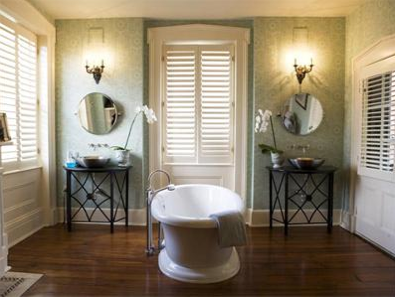 More Savannah Style. A perfect bath for a second suite ...
