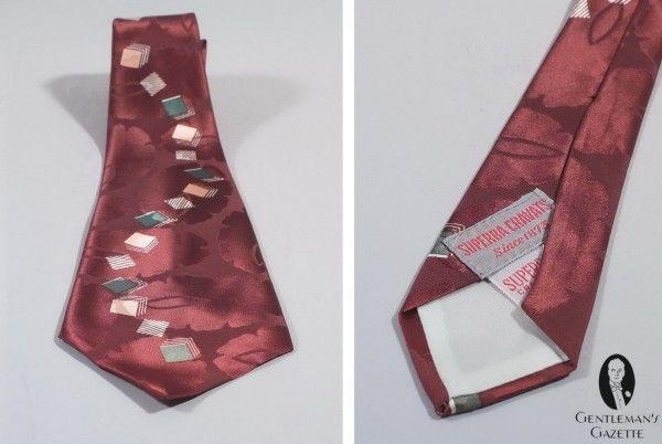 Cranberry Silk! 1940/'s Tie!