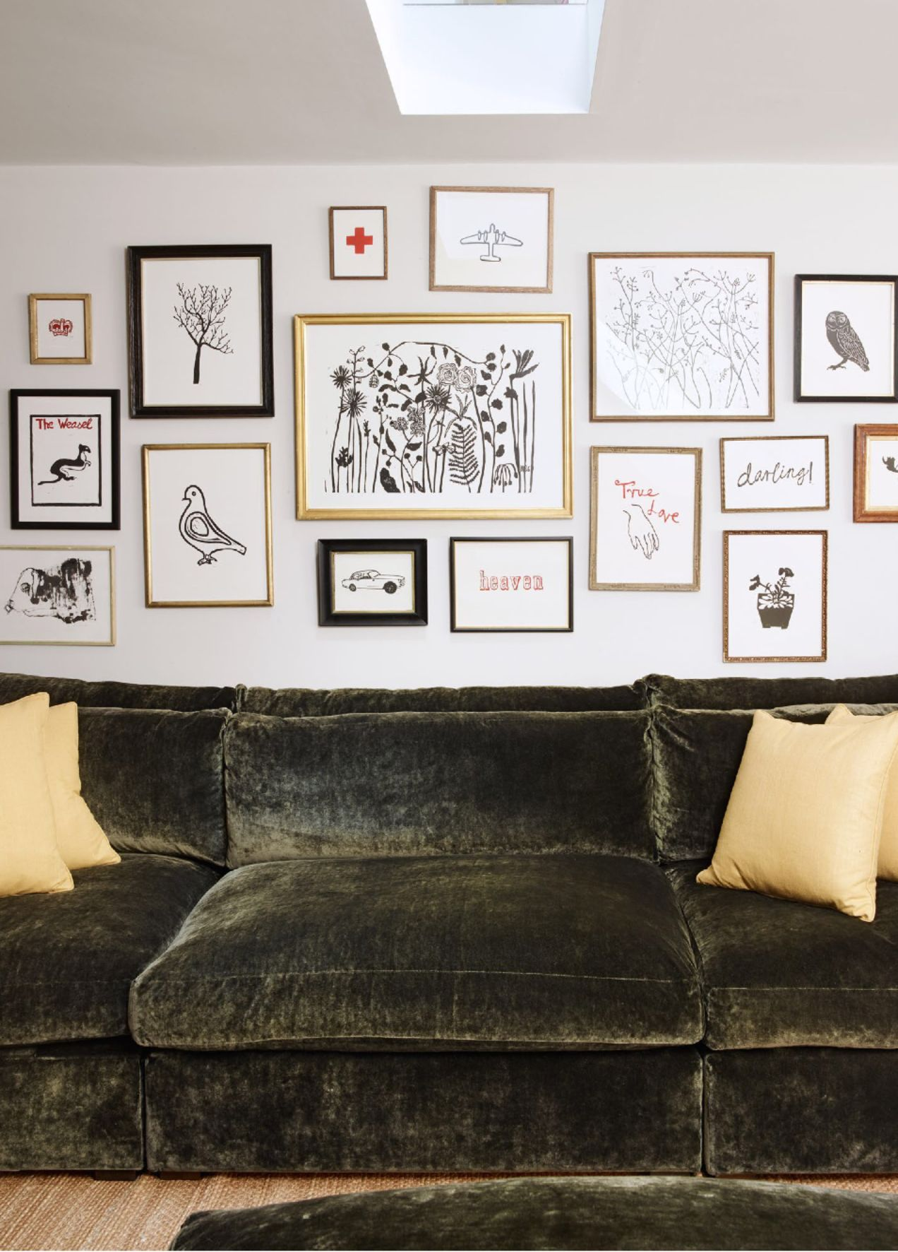Big Couch And Gallery Wall