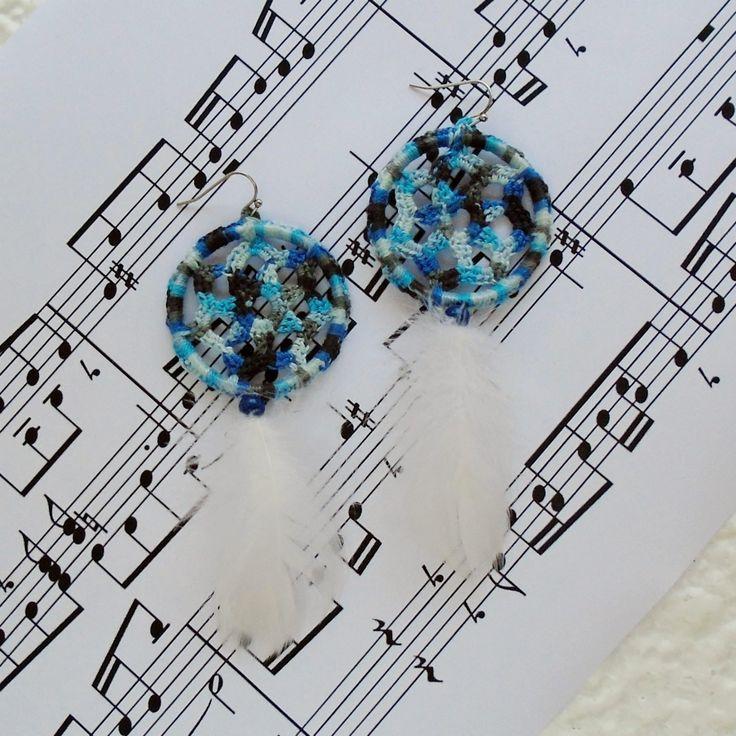 Photo of Dream catcher earrings, Feather earrings, Statement earrings, Boho chic jewelry, Best gifts for her, Long drop earrings, Tribal fusion – Bracelets Tutorials
