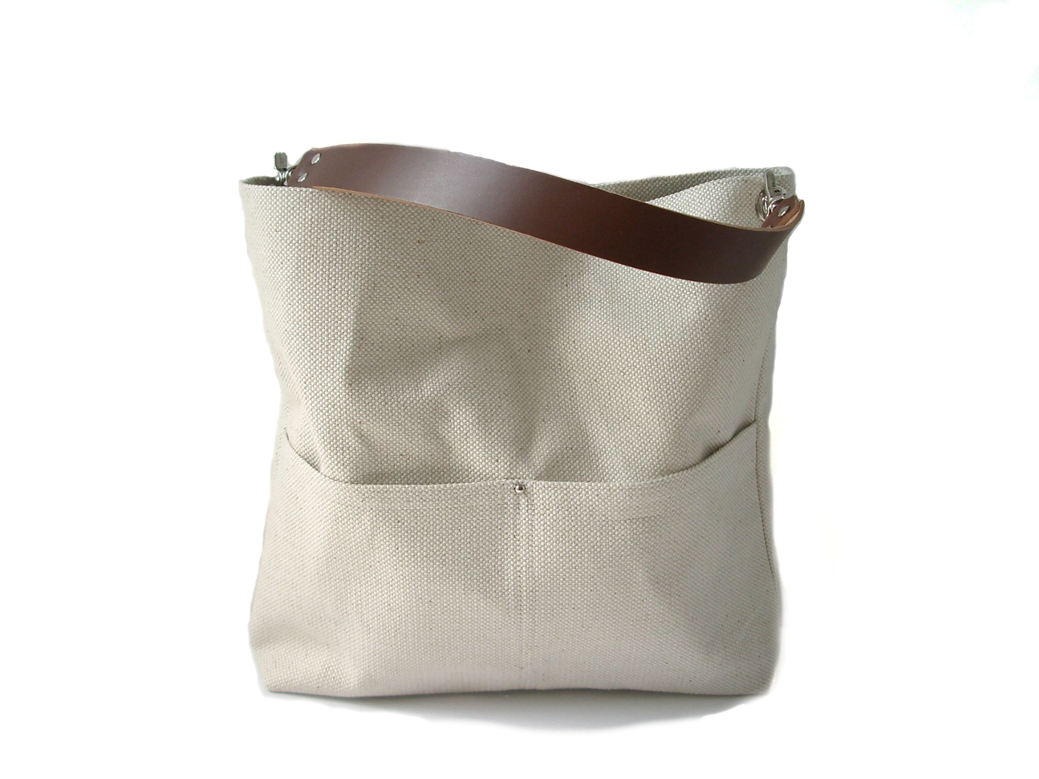 Flax Woven Bucket Tote by Independent Reign $154