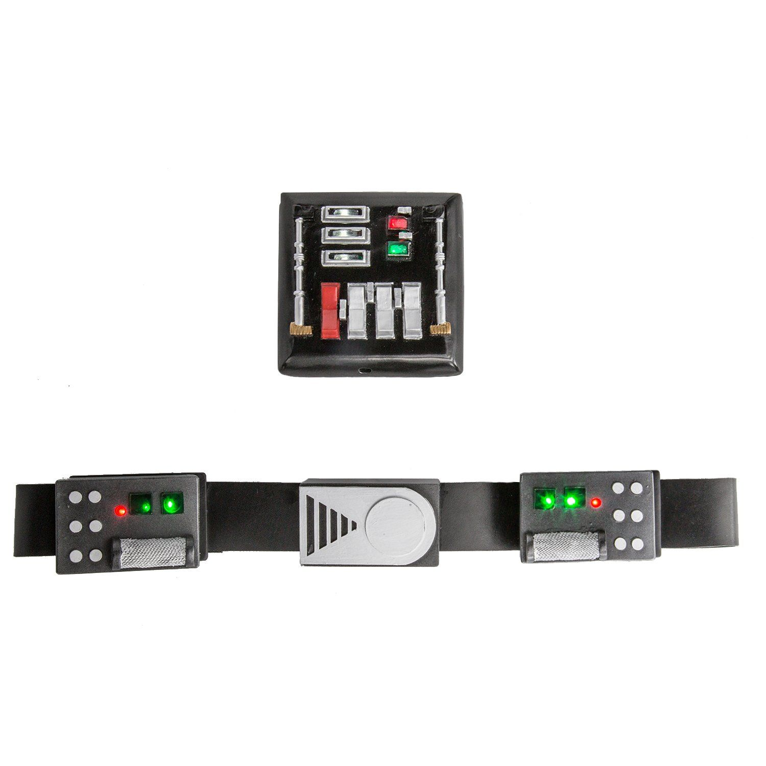 Deluxe Darth Vader Belt /& Chest Plate with Led Lights Star Cosplay Wars Props
