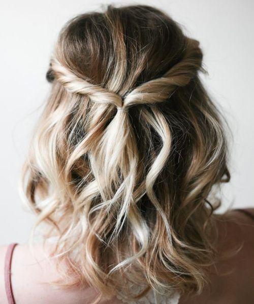 Diy wedding hairstyles 2018 for short hair