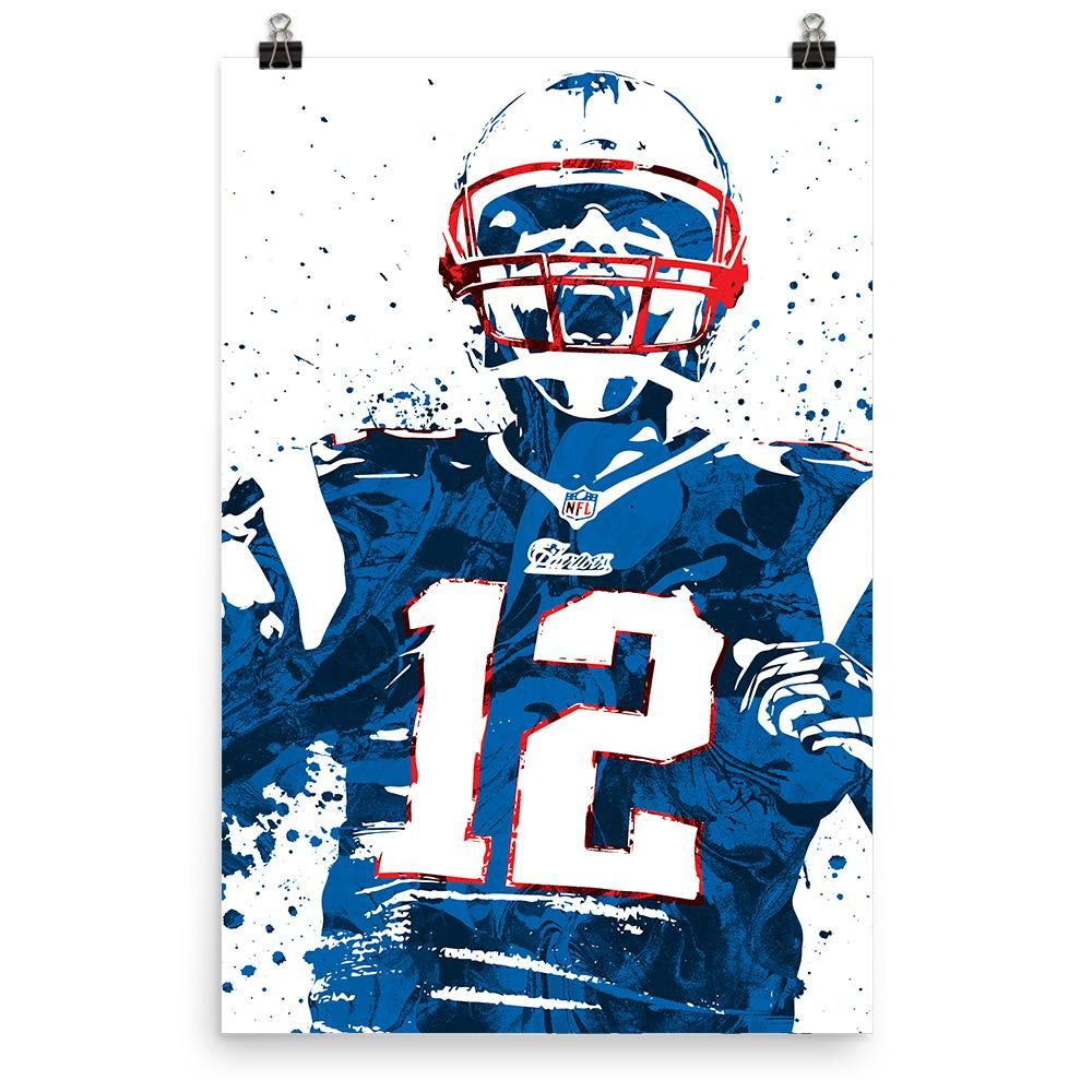 Tom Brady New England Patriots Poster Tom Brady News Patriotic Posters Tom Brady