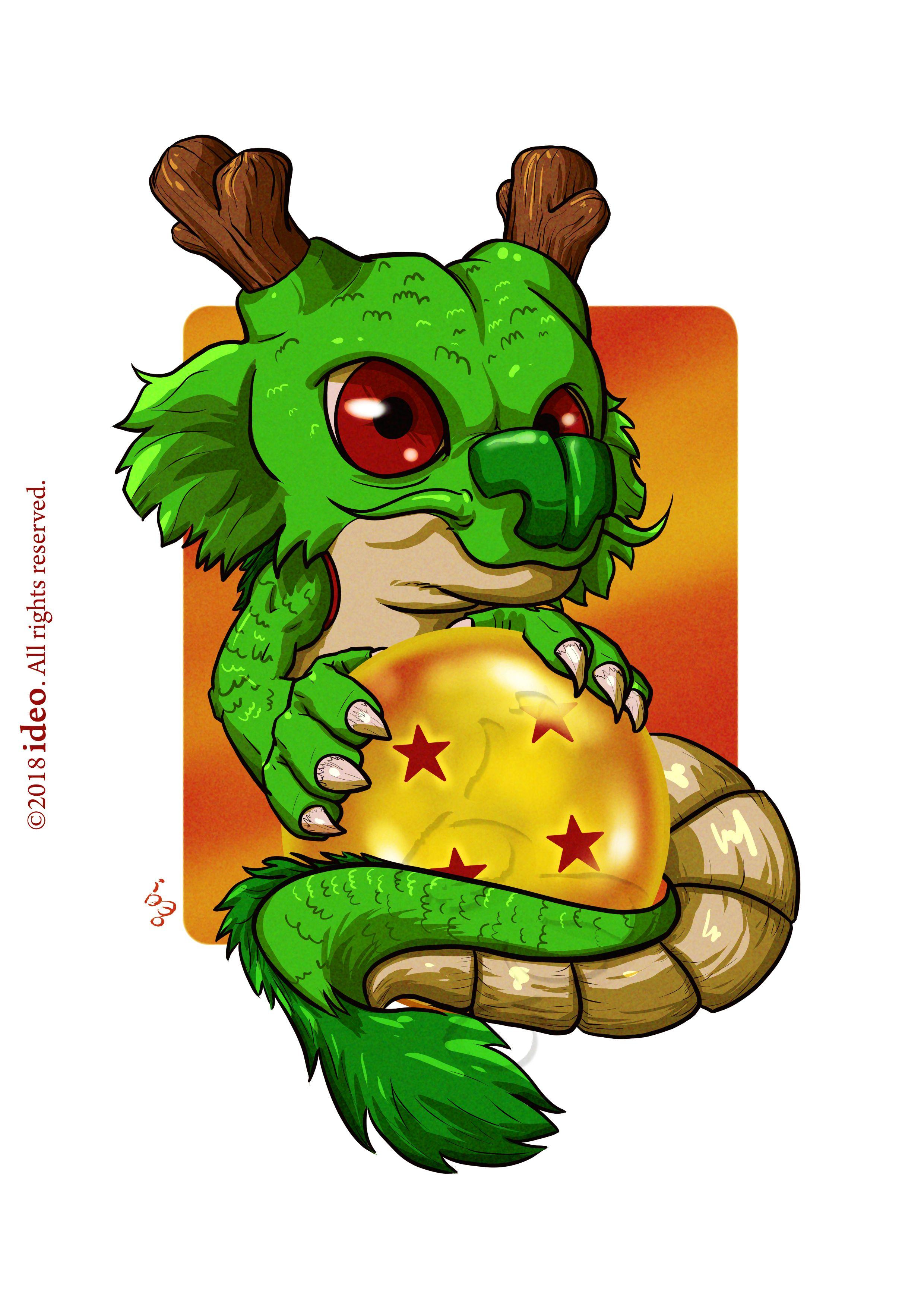 Chibi Shenron By Ideo Chibi Desenhos Dragonball Desenhos Para Tatuagem