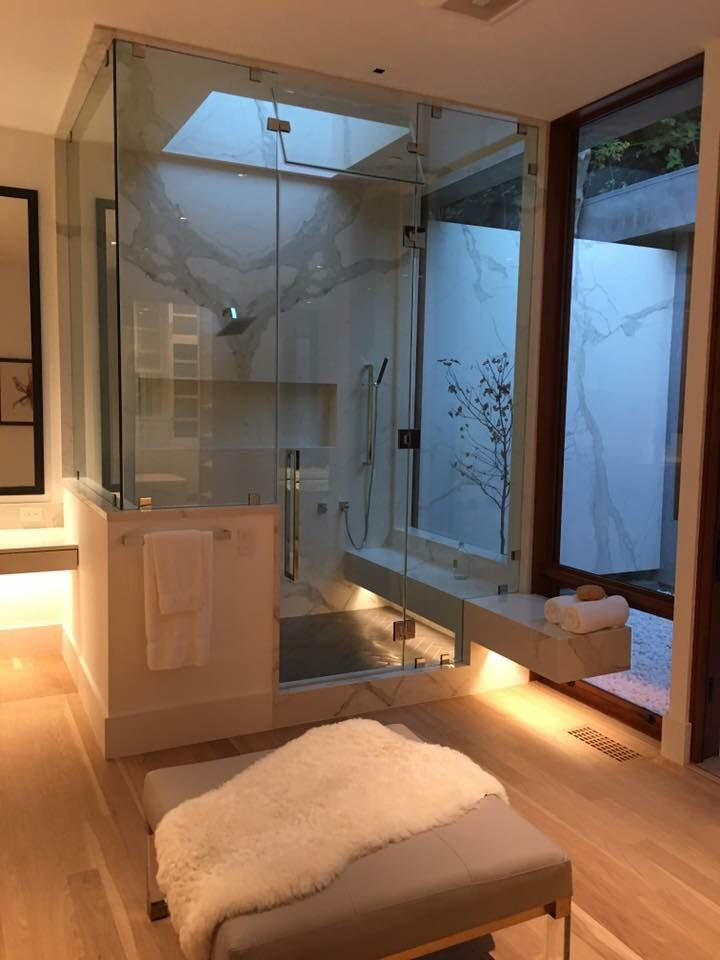 Contemporary steam shower bath design steam showers - What uses more water bath or shower ...