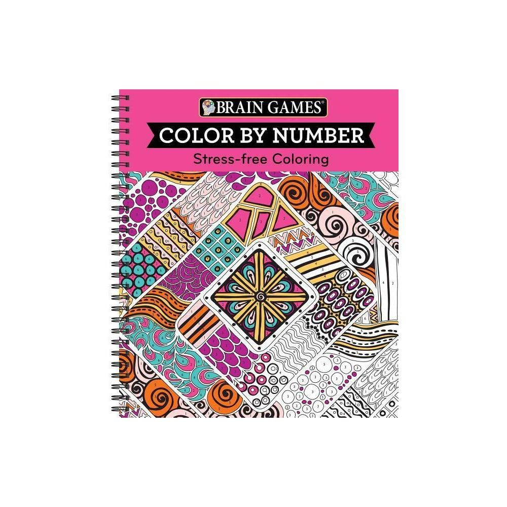 Brain Games Color By Number Stress Free Coloring Pink Spiral Bound In 2021 Stress Free Coloring Brain Games Free Books Download