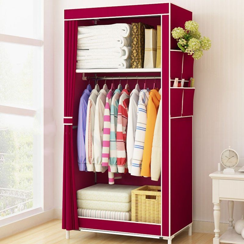 Students Dormitory Small Wardrobe Single Cloth Wardrobe Folding Portable Closet Clothing Storage Cabinet Home Fu Closet Furniture Closet Designs Home Furniture