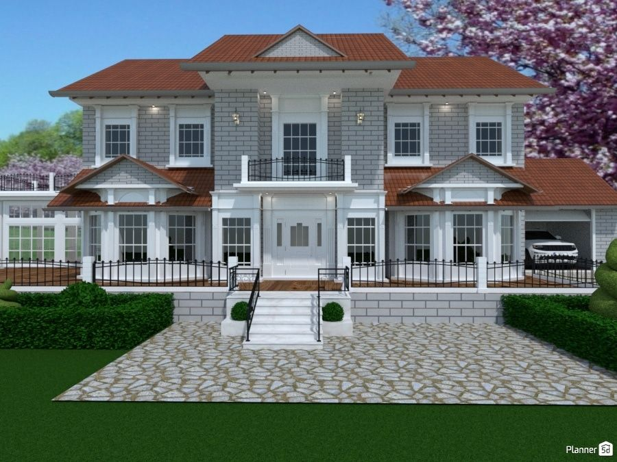 Let Me Know What You Think Of That House I Created Would You Make Any Changes Https Planner5d Co Online Home Design House Plans Online Home Design Software