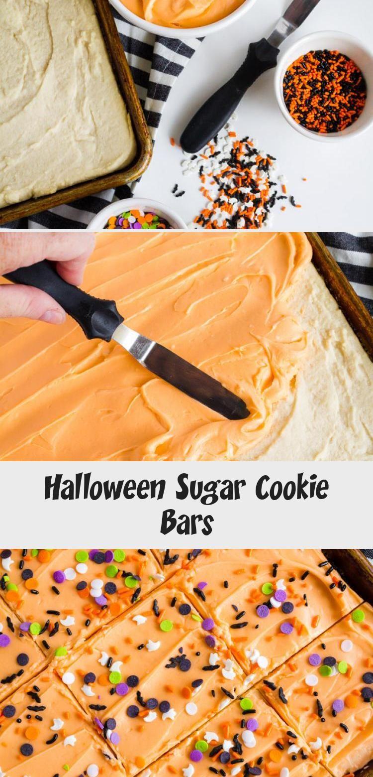 Halloween Sugar Cookie Bars #halloweensugarcookies