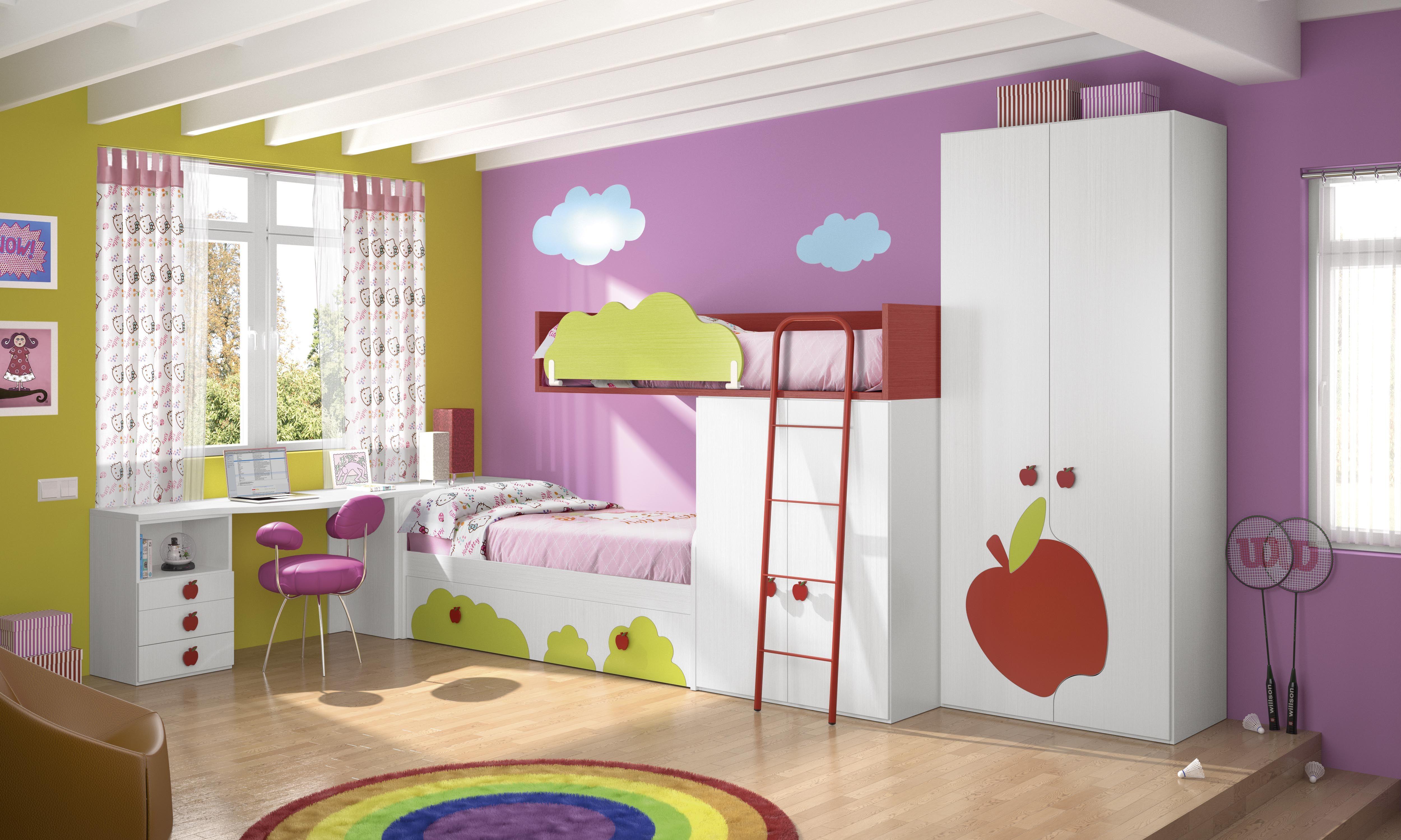 Habitaciones infantiles tem ticas paisajes dibujos - Habitaciones infantiles tematicas ...