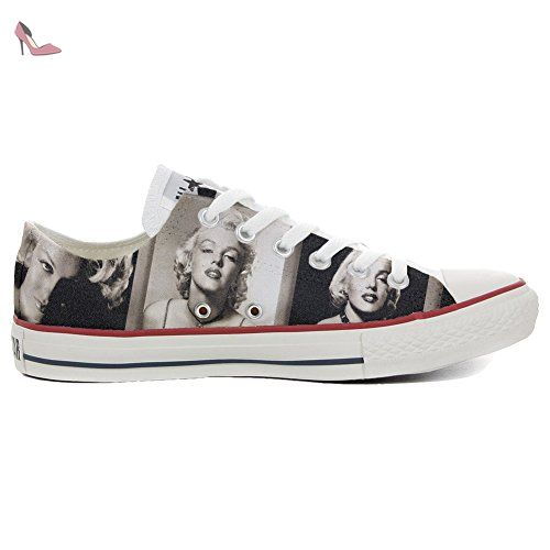 Make Your Shoes Converse Customized Adulte - chaussures coutume (produit artisanal) Slim Marilyn Monroe size EU37 uI3jUEs