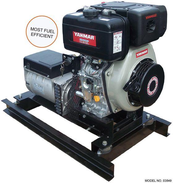 Slow Turning 5 Kw Yanmar Diesel Generator Diesel Generators Diesel Rv Hacks