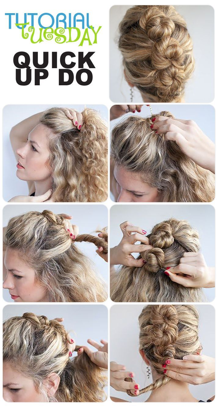 Love this quickupdo hairstylesquick hairstyles quick in