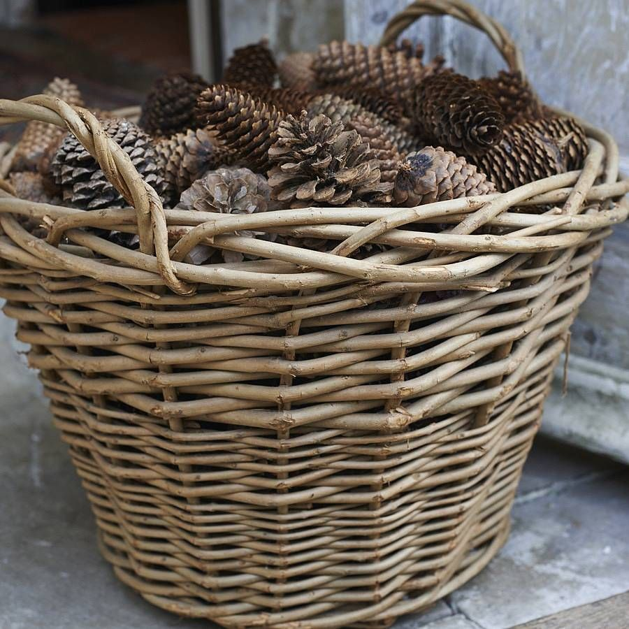 Lovely A Rustic Wild Wicker Log BasketThis Wicker Log Basket Is Extremely Versatile  And Great Value For Pictures