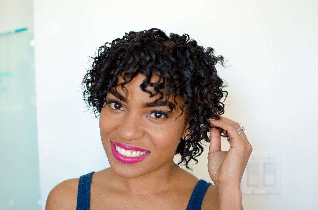 Messy Curls With Curlformers On Short Hair The Feisty House