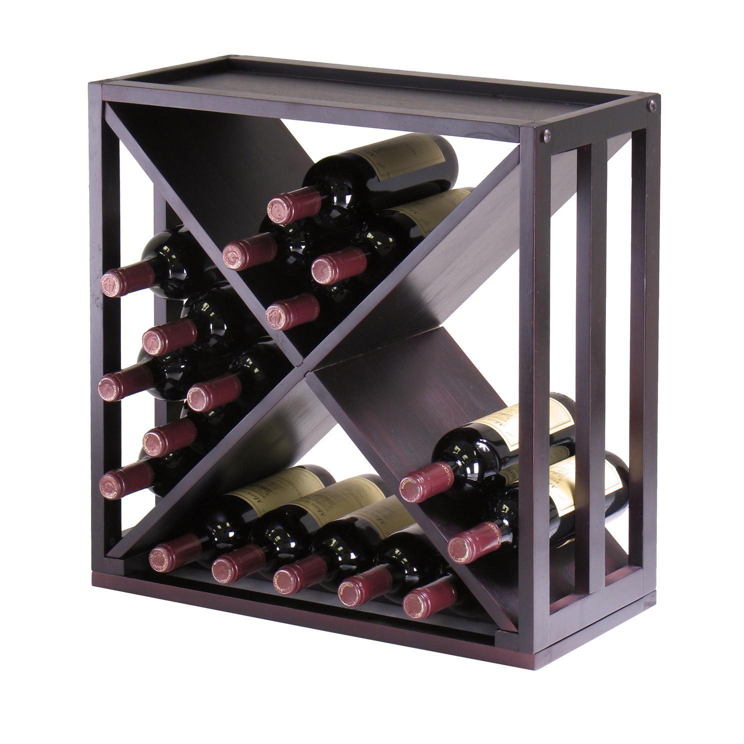Amazon.com Winsome Wood Kingston  X -Design Wine Storage Cube  sc 1 st  Pinterest & Amazon.com: Winsome Wood Kingston