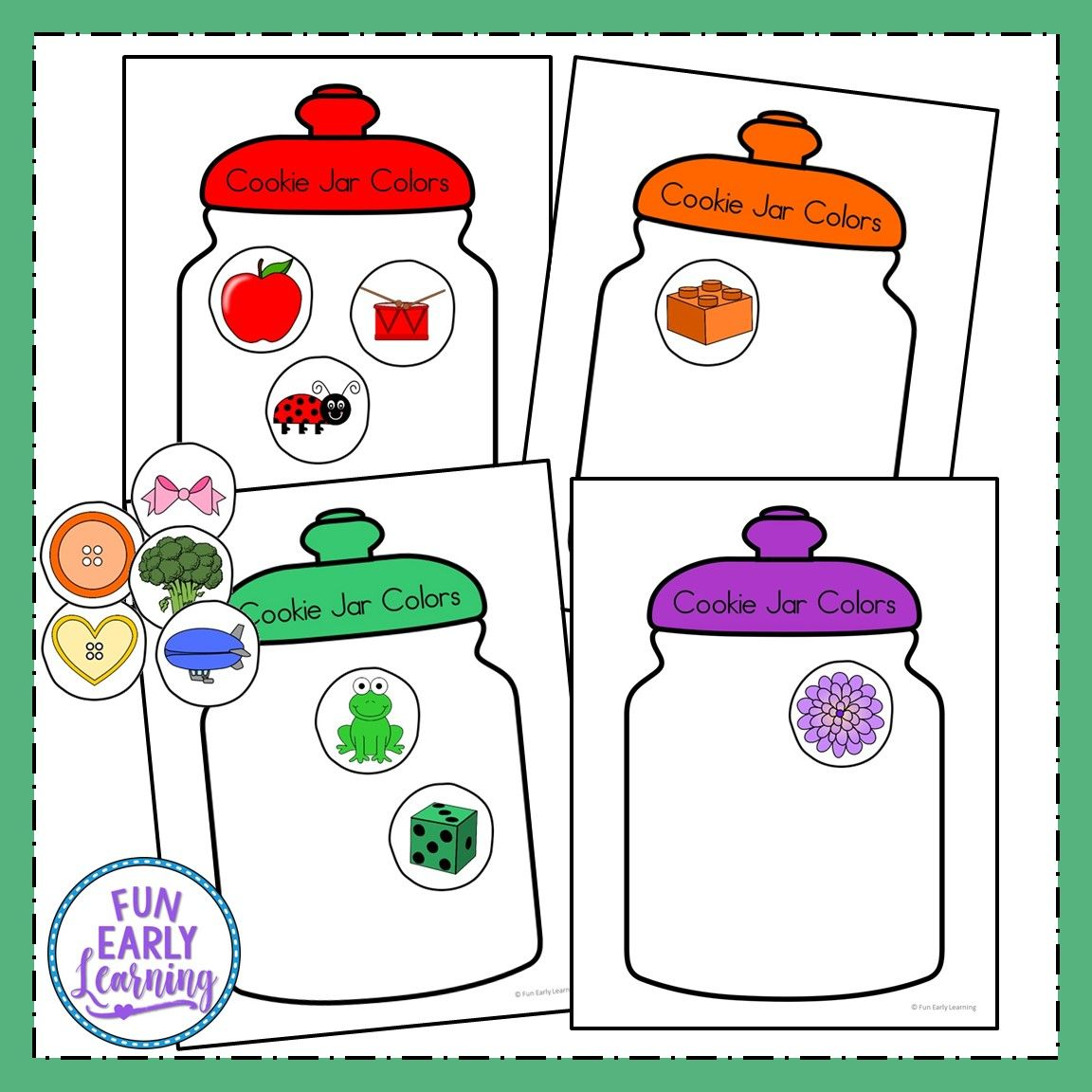 Cookie Jar Colors Activity