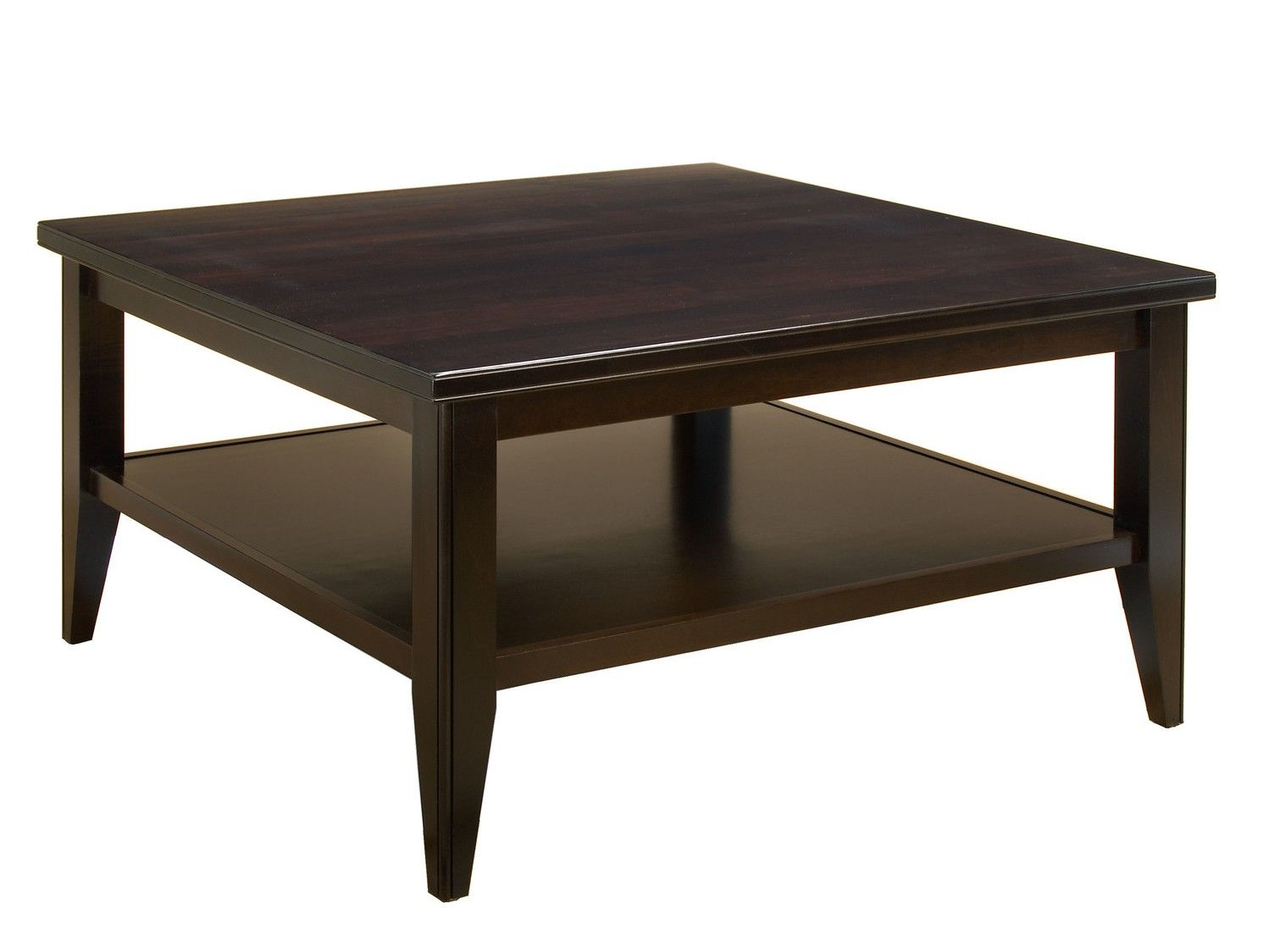 Traditional Square Dark Brown Coffee Table Coffee Table Square Cocktail Table Coffee Table Square