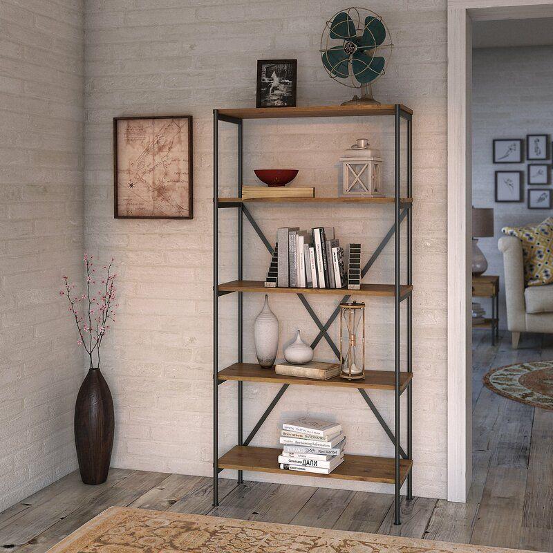 Ironworks 5 Shelf Etagere Bookcase In 2020 Etagere Bookcase