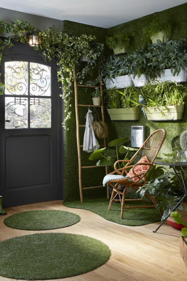 Toutes Les Photos De La Tendance Nature Vegetale Deco Canape Vert Idee Deco Deco