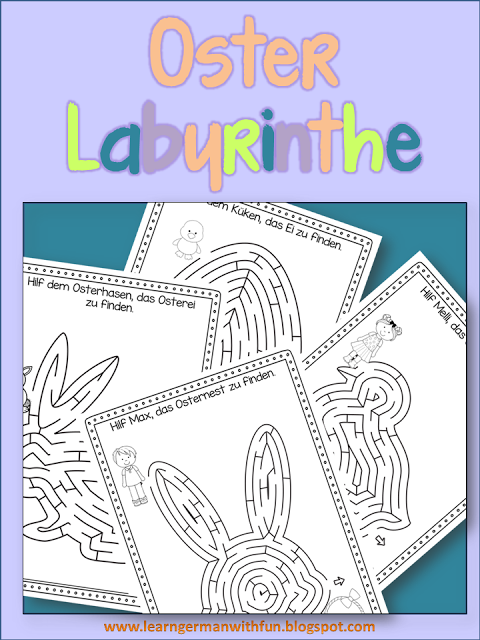 Ostern Arbeitsblätter. Labyrinthe für die Grundschule zum Thema ...