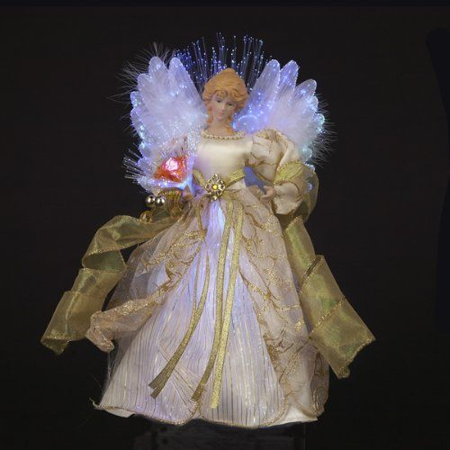 Lighted Christmas Angel Tree Toppers Christmas crafts Pinterest