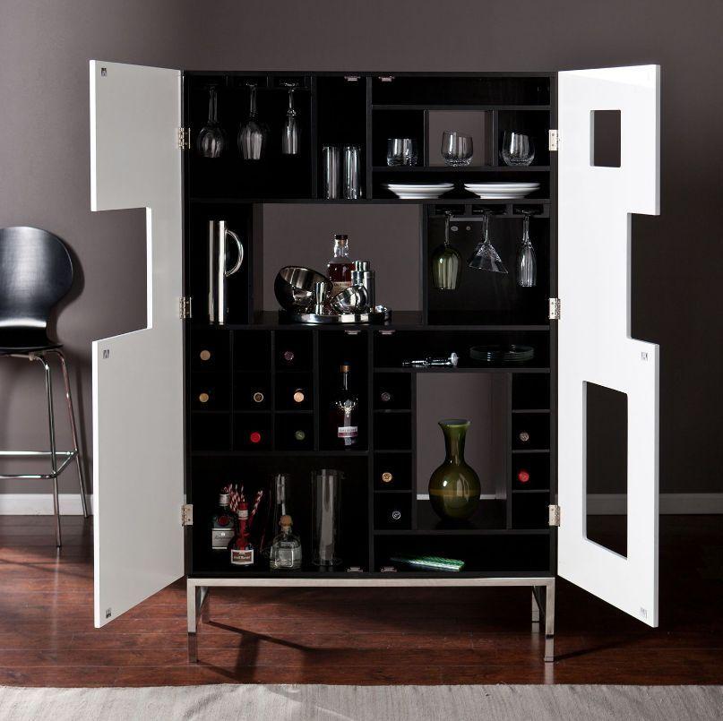 Liquor Storage Cabinet Home Bar Furniture Wine Bottle Glass Holder Modern Home Bar Furniture Wine Bar Cabinet Bar Cabinet