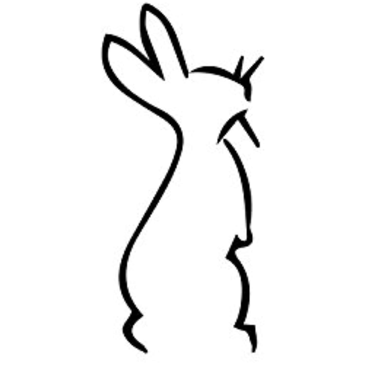 Cute bunny silhouette vinyl wall art stickers
