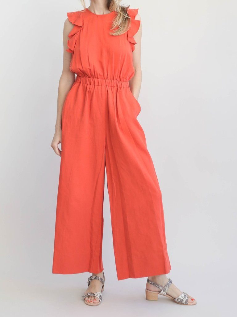 7563298bbffa Ulla Johnson - Viola Jumpsuit - Chili