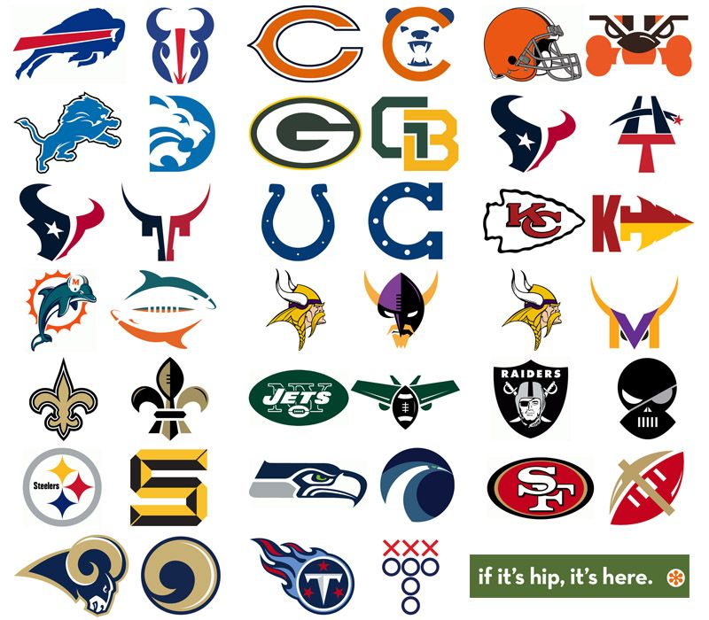 74a3c98cf69 NFL Team logos redesigned by Matt McInerney | Advertising and ...