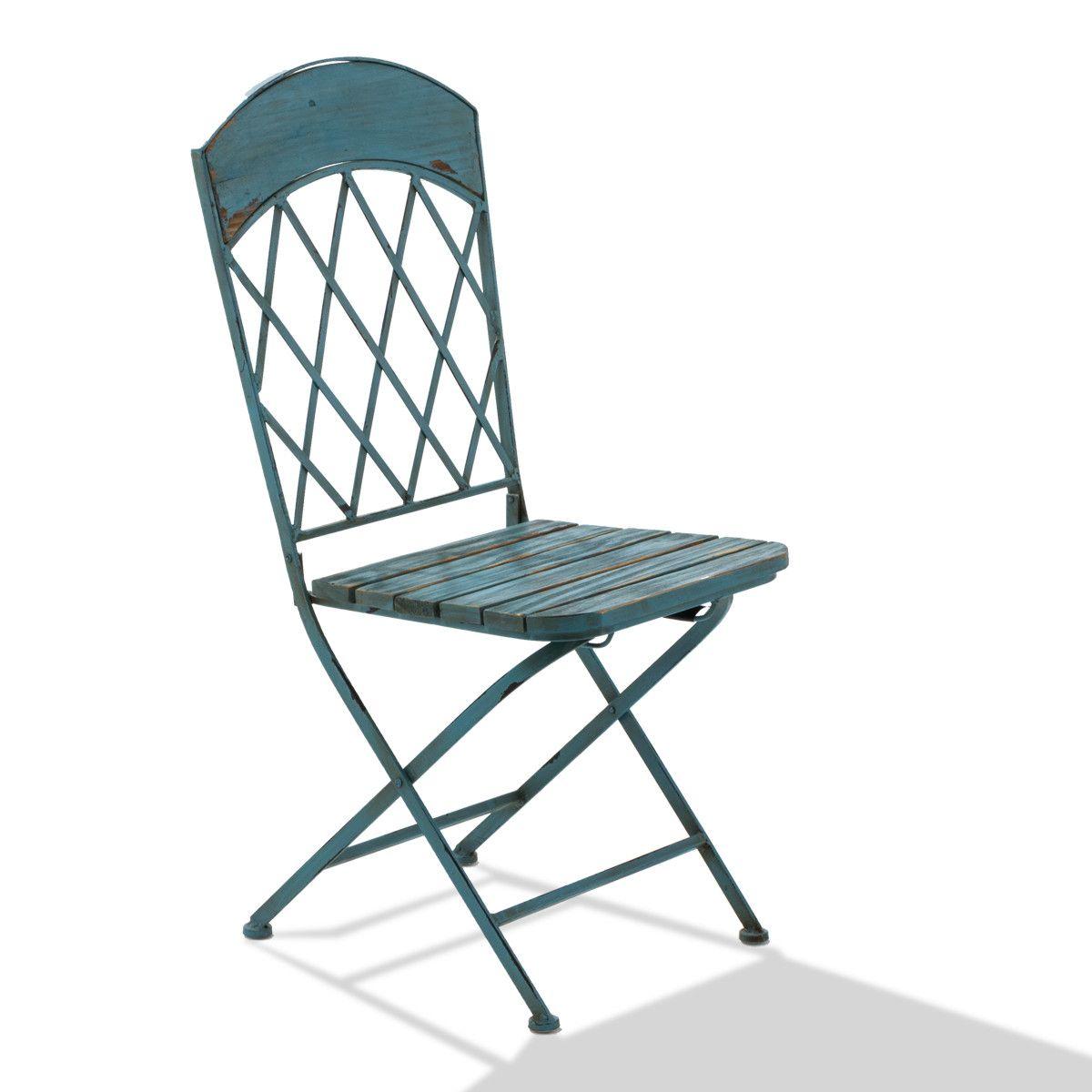 Stuhl-Set, 2-tlg. Vintage, Klappstühle, Vintage-Look, Metall Holz ...