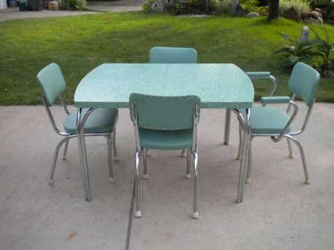 Antique And Vintage Table And Chairs Vintage Green