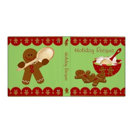 "Holiday Recipe Binder - 1"" Binder"