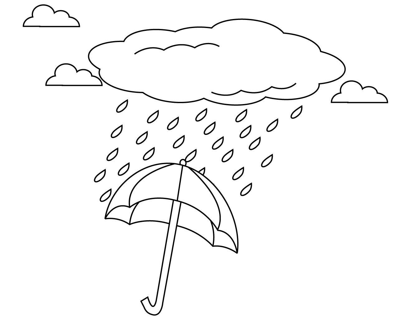 Umbrella And Rain Coloring Pages Umbrella Coloring Page Coloring Pages Journal Stationery