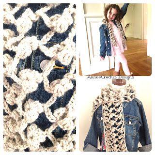 De Annoo Crochet Mundo: Lenço grátis Teste padrão de flor