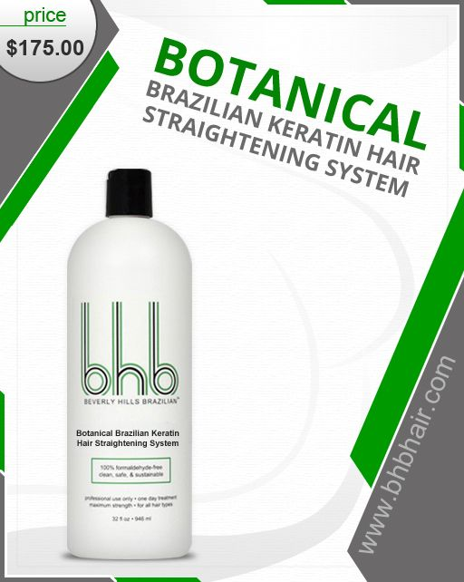 Botanical Brazilian Keratin Hair Straightening System It Is A Formaldehyde Free Clarifying Hair Treatment Brazilian Keratin Hair Treatment Clarifying Shampoo