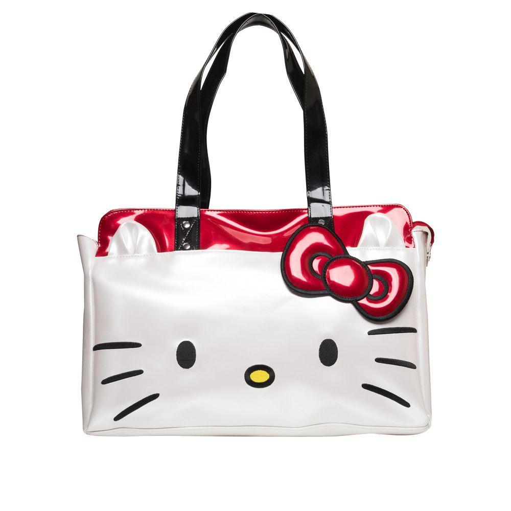 Hello Kitty Face Shoulder Bag White up to 70% off   Handbags   Little Black  Bag 621e3c2246