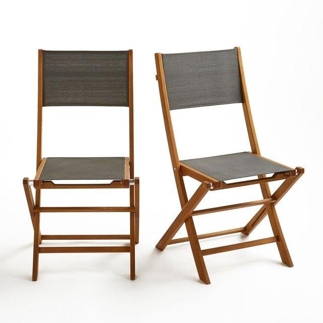 Chaise de jardin pliante (lot de 2), Exodor | Tables à ...
