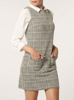55a456427a 1960s-style check mini pinafore dress at Dorothy Perkins