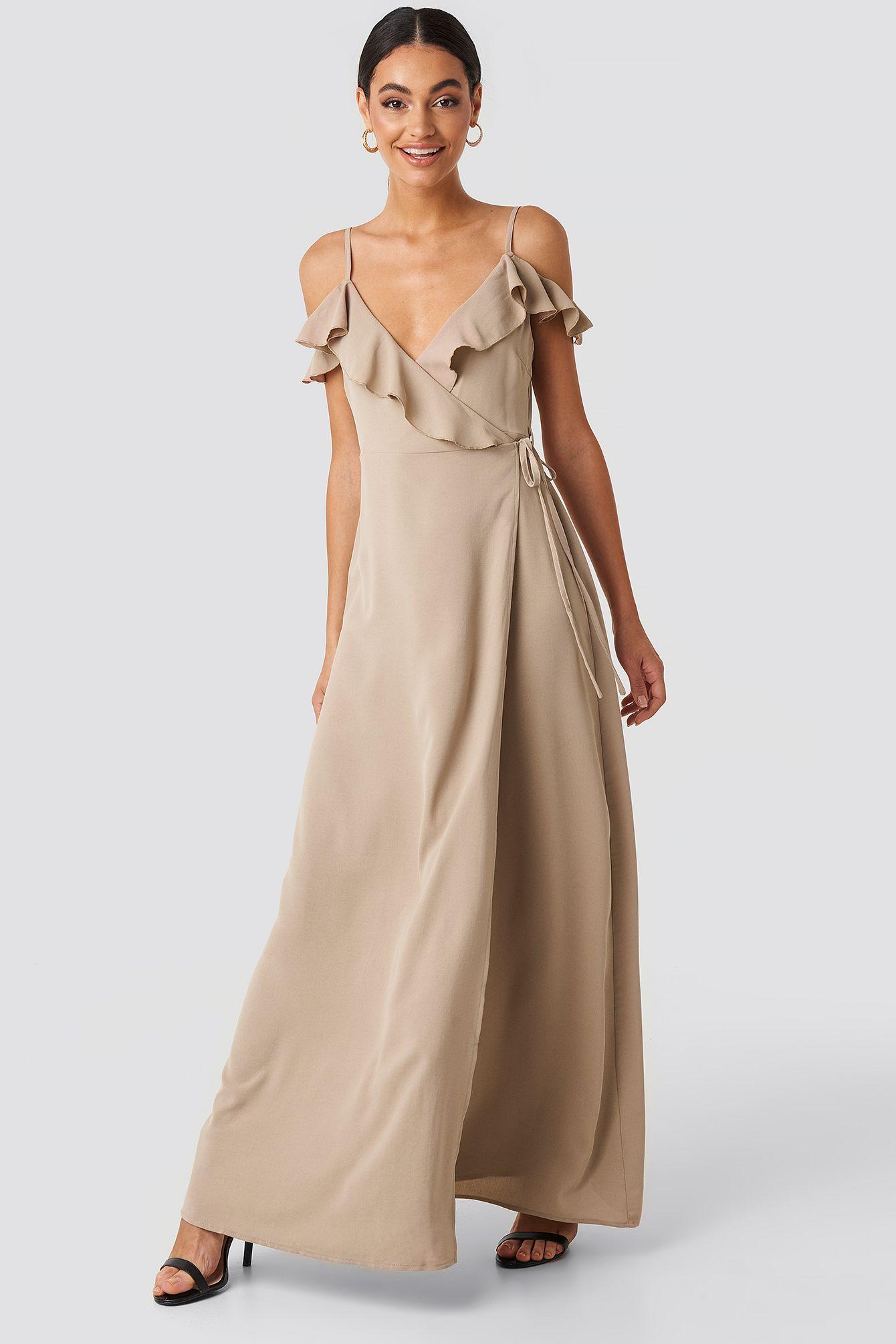 Frill Strap Maxi Dress in 14  Maxi kleider, Glamour, Kleidung