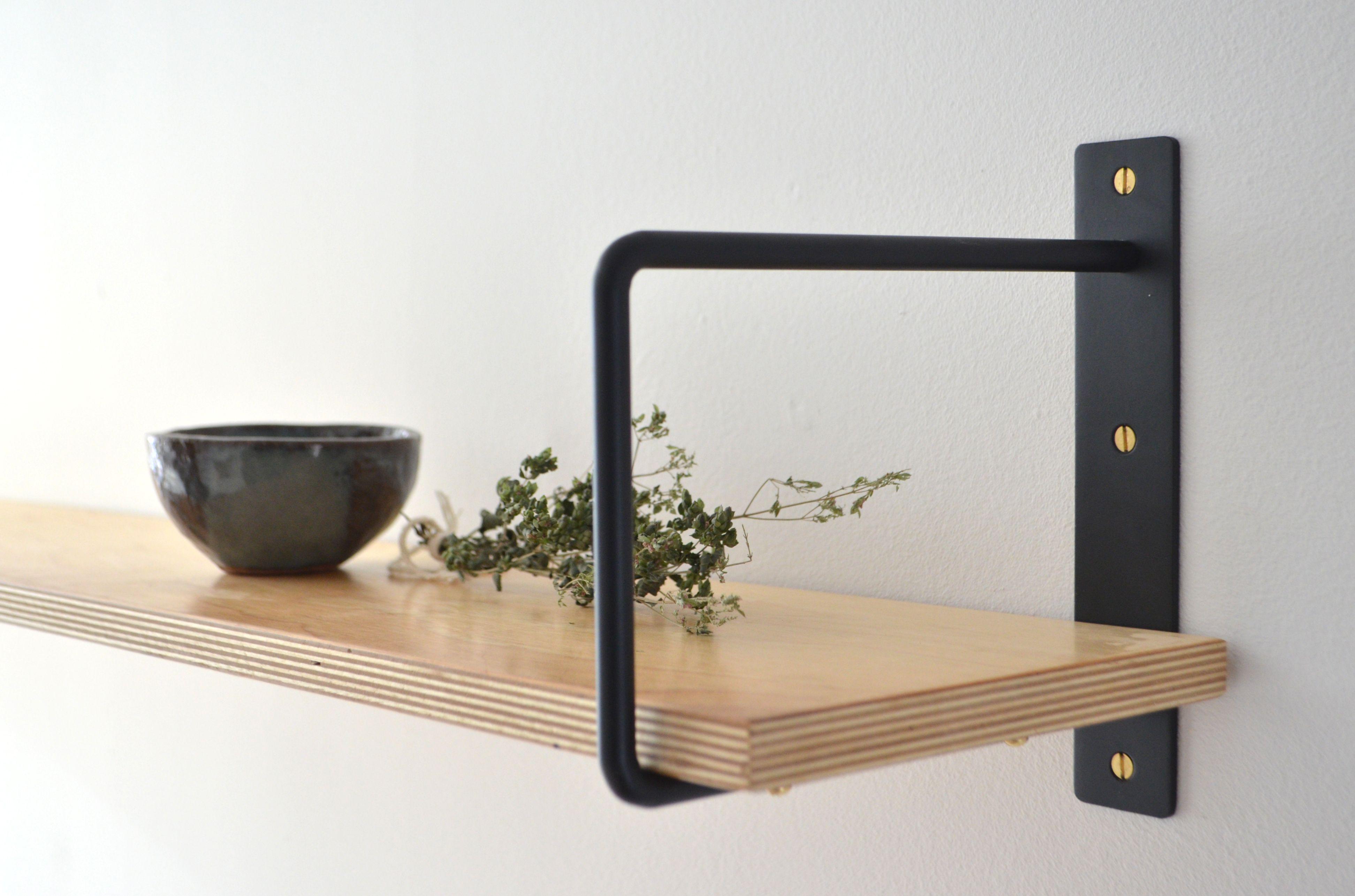 Mdt Mobilier Tag Re Alliant Bois Et Acier Design Parfait Pour  # Tablette Pour Tv En Bois