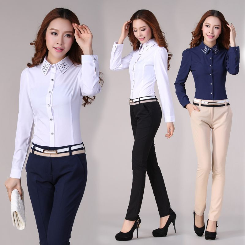 Cool Quality New 2015 Spring Formal Office Pants Women Trousers Suit Pants