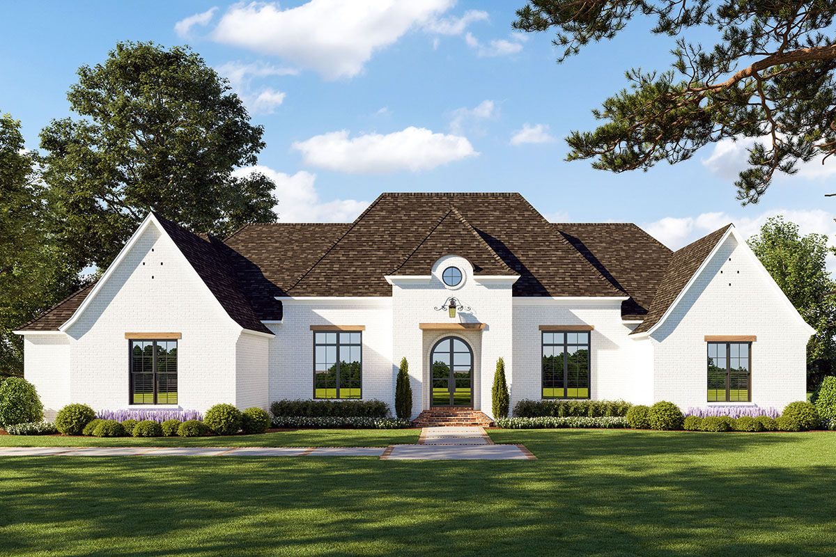 Plan 56459sm Breathtaking French Country House Plan With Screened Porch French Country House French Country Exterior French Country House Plans