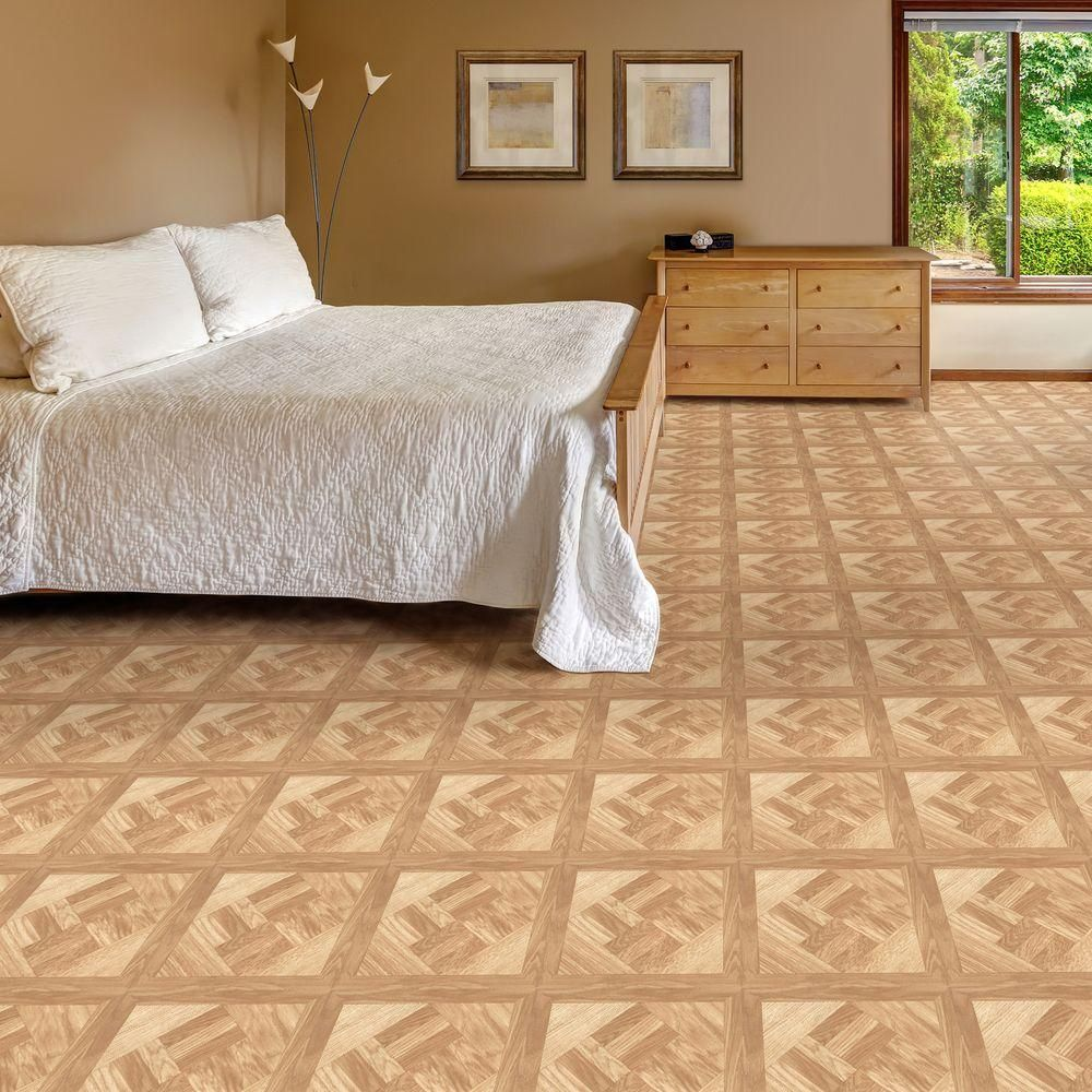 Chaucer 12 in. x 12 in. Resilient Vinyl Tile Flooring (45
