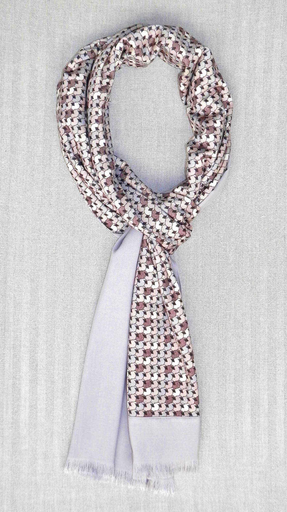 Bufanda reversible estampada gris   Bufandas para hombre   Pinterest ...