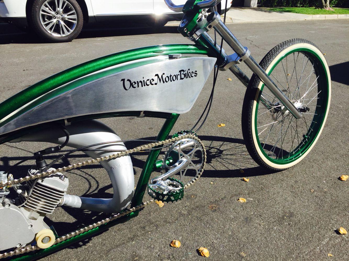 Noname customs motorized bicycle piston bike gasbike venice chopper