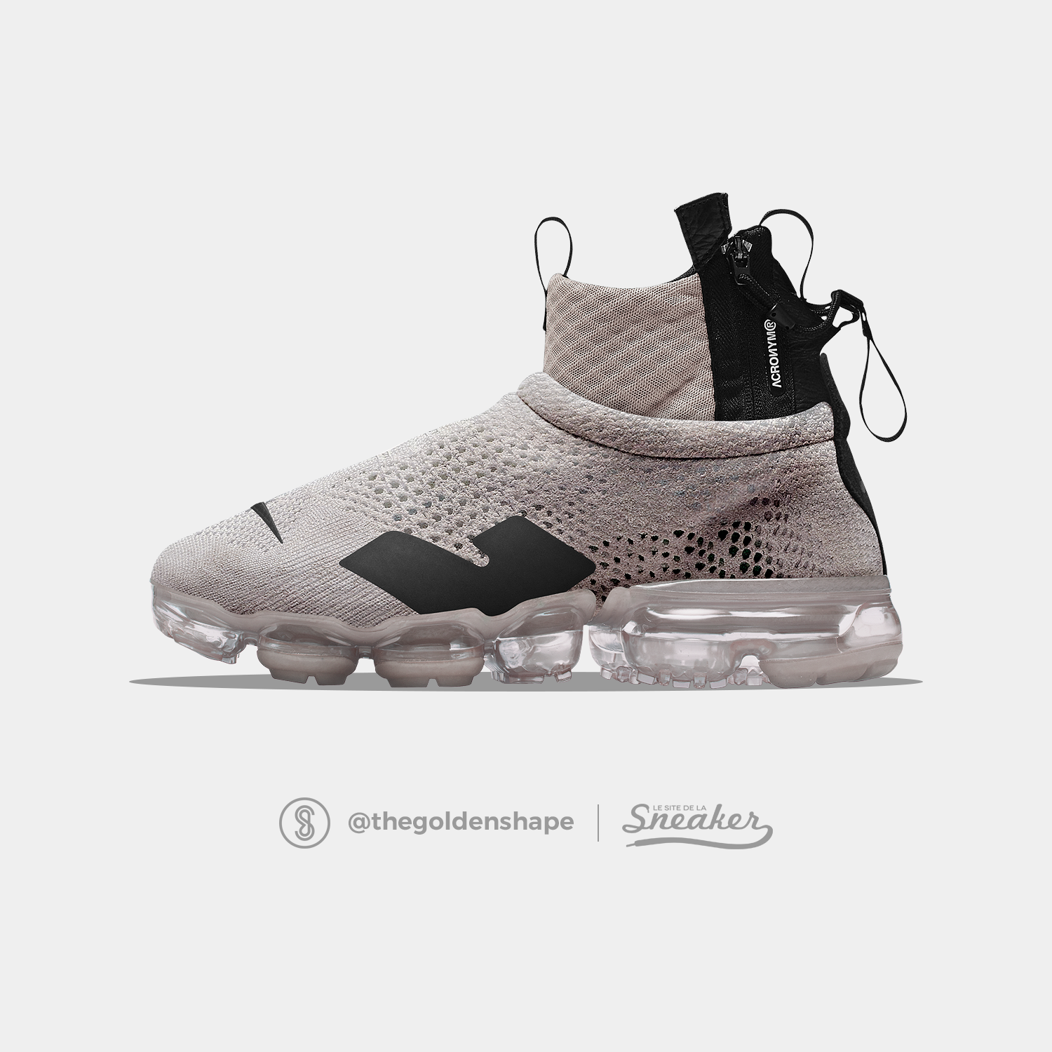 90579a7d8a8 Acronym x Nike Air VaporMax Flyknit Moc Light Bone
