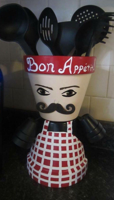 A personal favorite from my Etsy shop https://www.etsy.com/listing/475190915/free-ship-baker-bon-apprtit-planter-pot