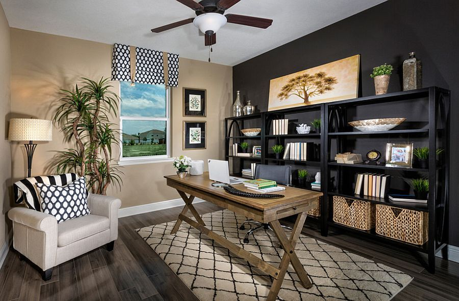 interior home office design. Contemporary And Tropical Styles Meet Inside This Home Office [Design: MP Studio Interiors] Interior Design